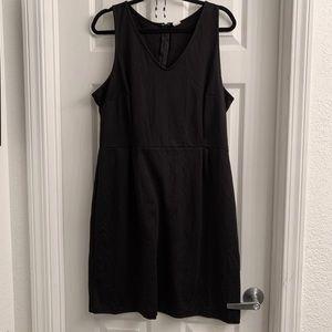 Black Ponte Sheath Dress